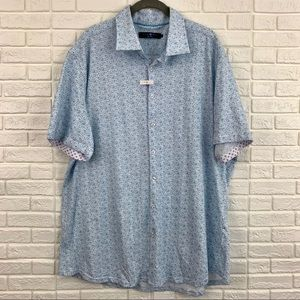 Stone Rose knit sport shirt short sleeve blue NEW
